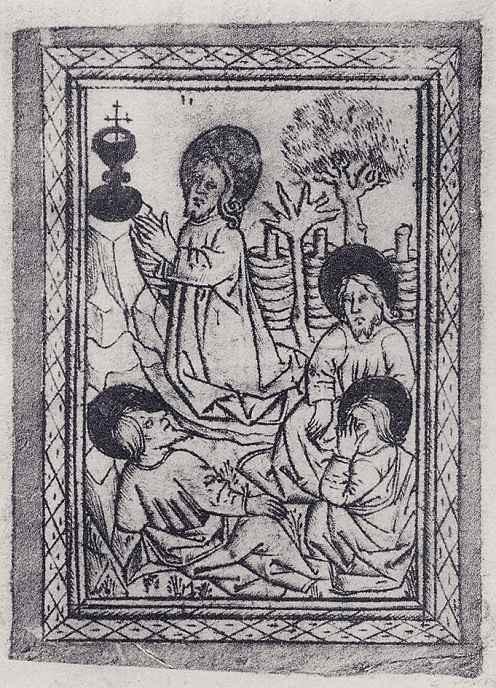 Израэль ван Мекенем Старший. Христос на горе Елеонской