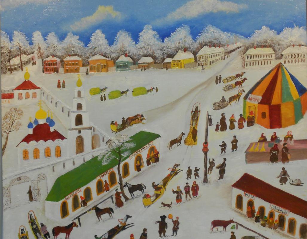 Vasily Vasilyevich Grigoryev. Fair in Kirzhach. Fragment