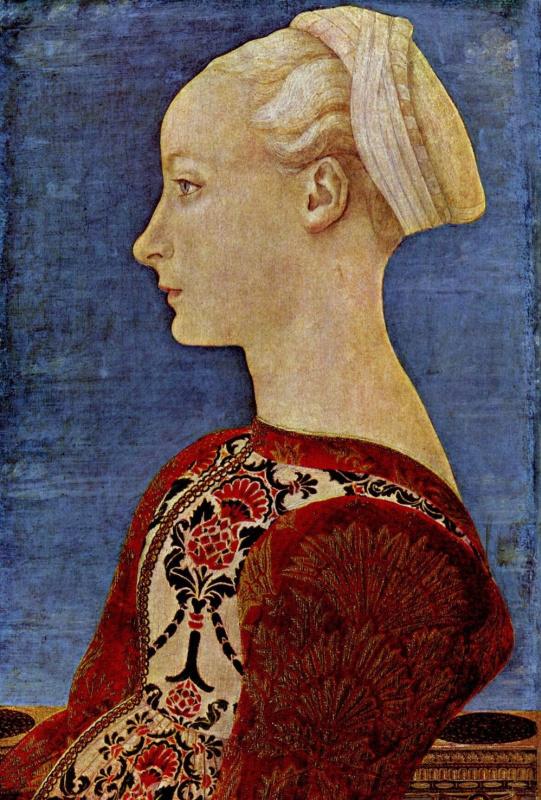 Портрет знатной молодой дамы, фрагмент