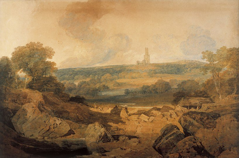 Joseph Mallord William Turner. Abbey Fonthill, East view