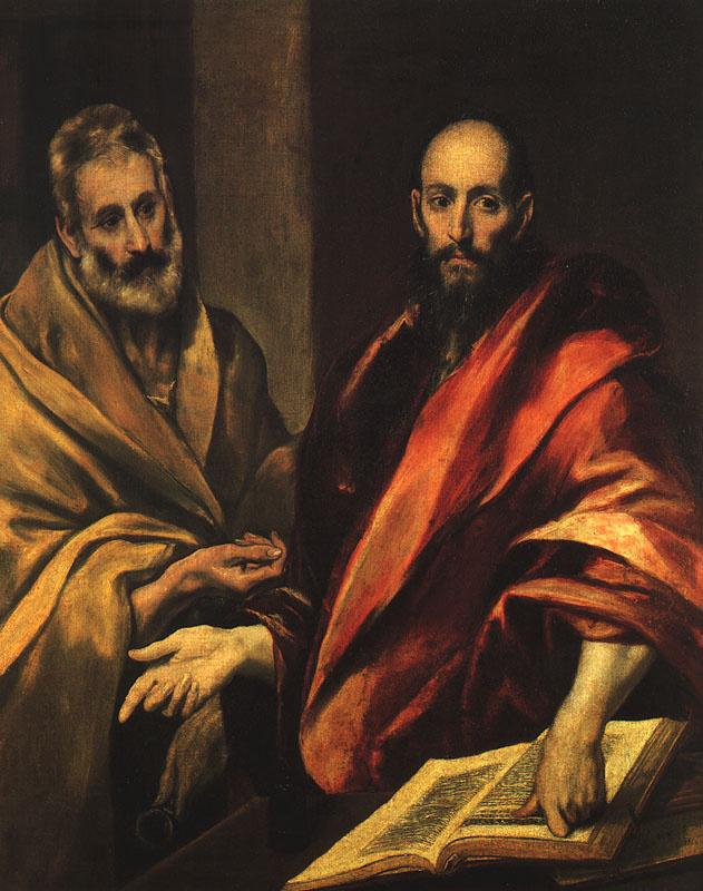 Эль Греко (Доменико Теотокопули). Апостол Петр и Павел