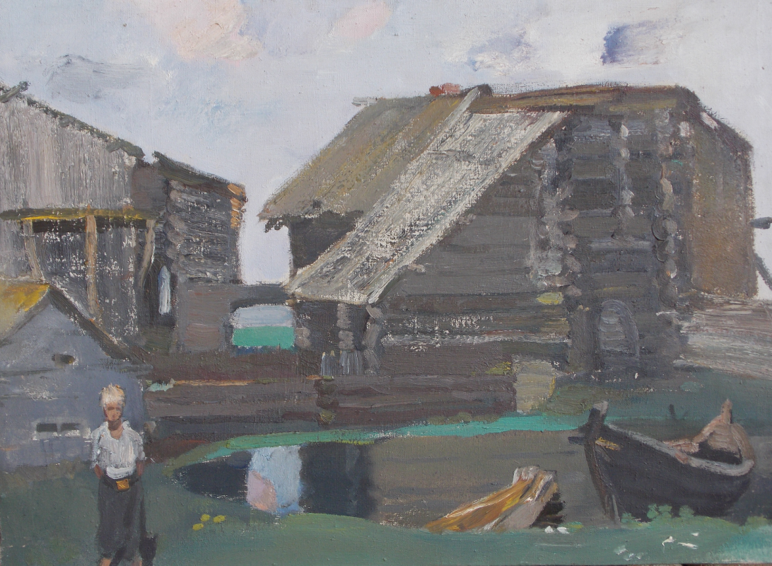 Anatoly Alekseevich Bolkhontsev. Abandoned village