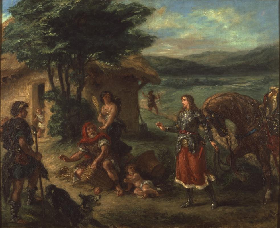 Eugene Delacroix. Erminia and the shepherds