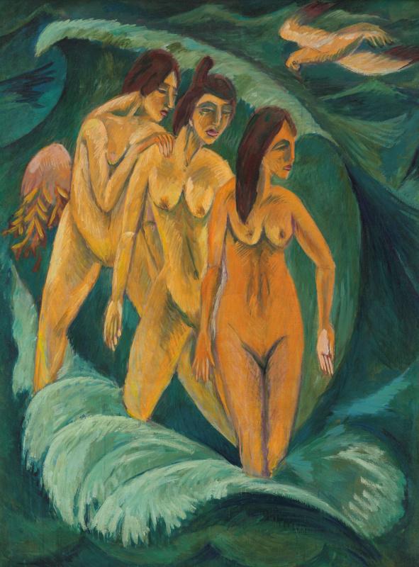 Эрнст Людвиг Кирхнер. Три купальщицы (1913)