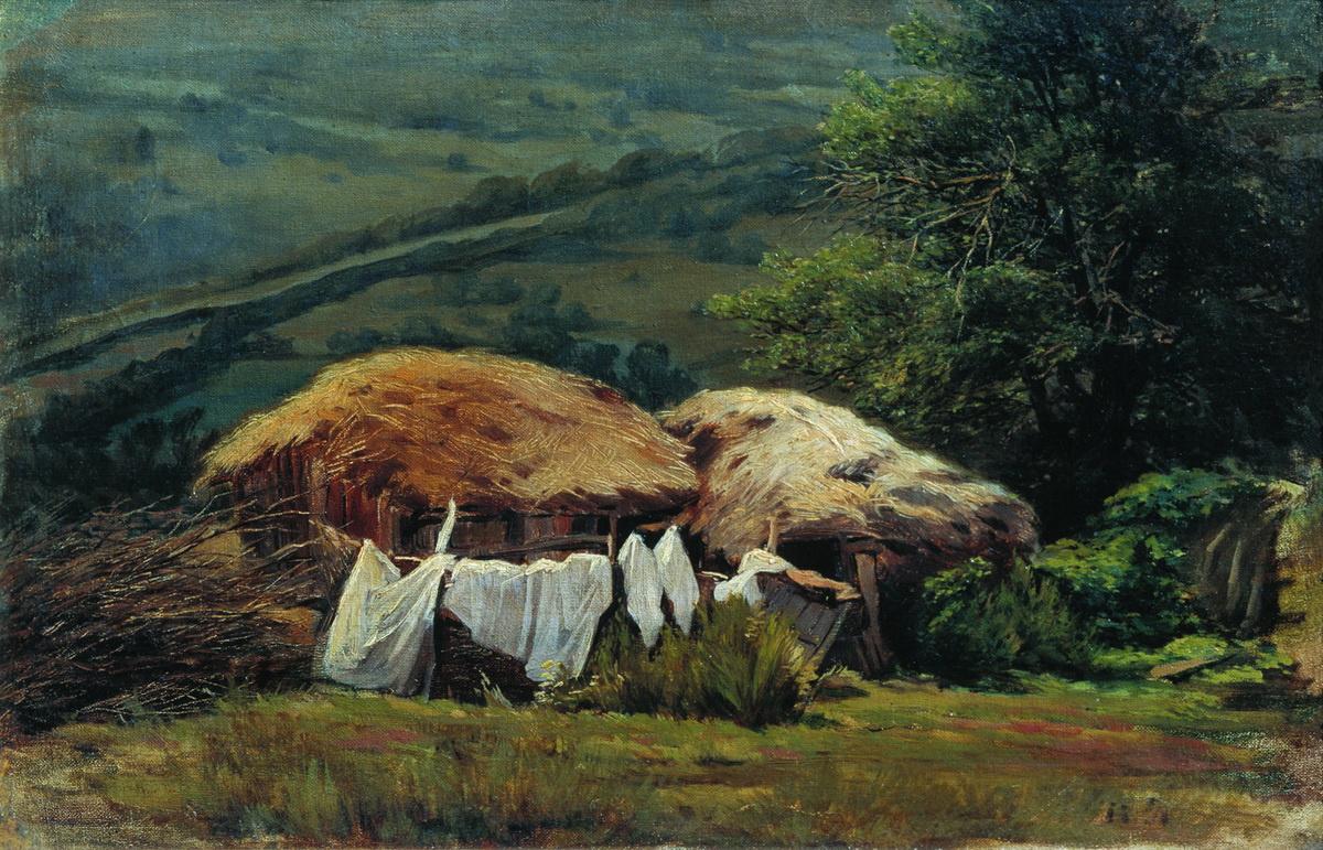 Nikolay Aleksandrovich Yaroshenko. On the outskirts. 1880s Study