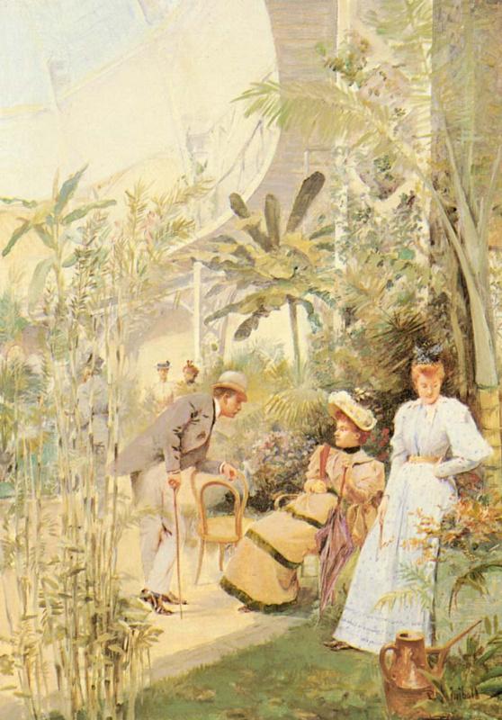 Жан Пол Синибалди. Встреча в саду