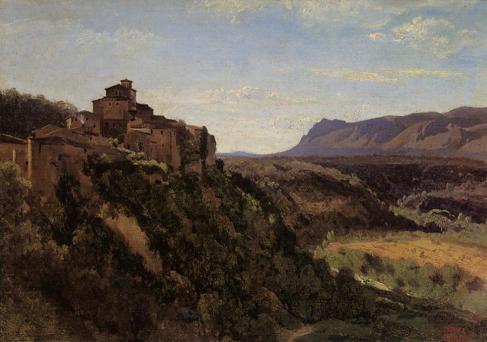 Камиль Коро. Здания с видом на долину
