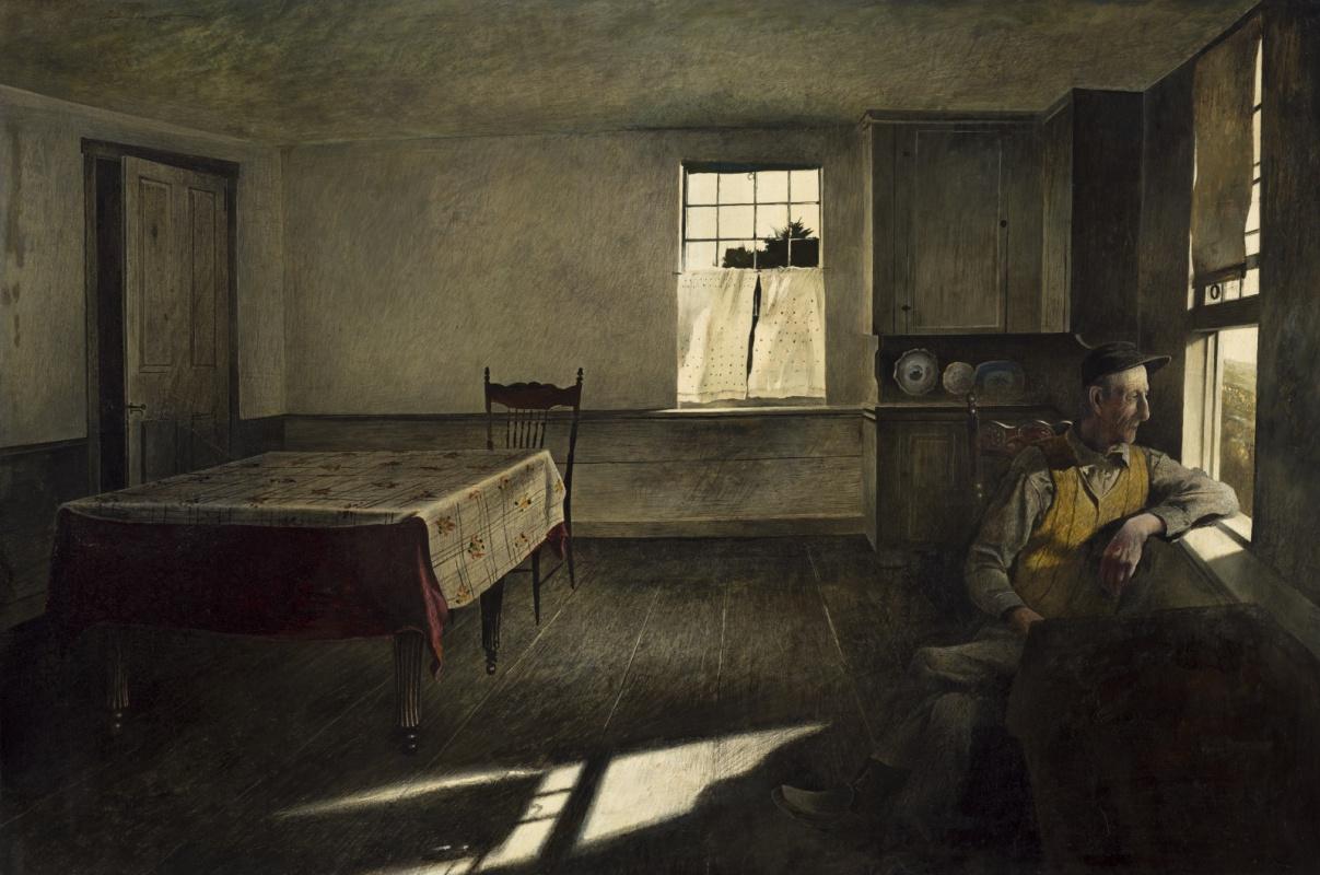 Andrew Wyeth. Portrait Of Henry Teel