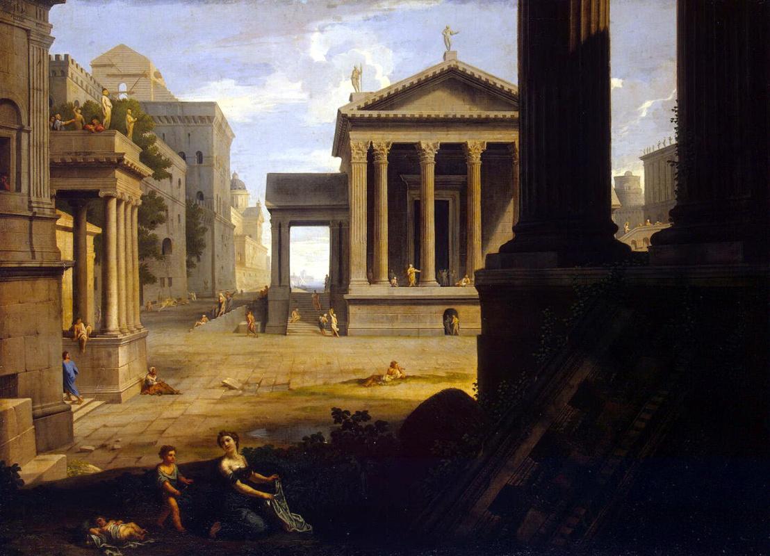 Жан Лемер. Площадь античного города
