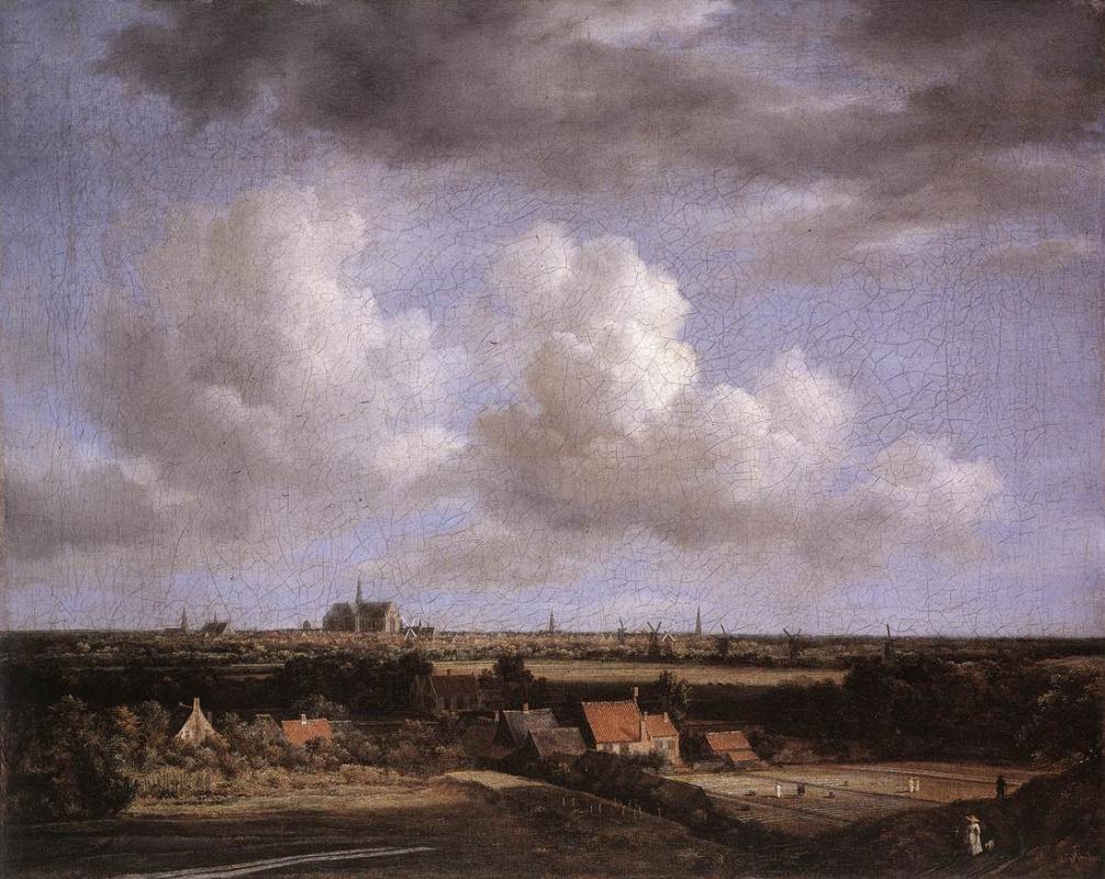 Jakob van Isaacs Ruisdael. Landscape overlooking Haarlem
