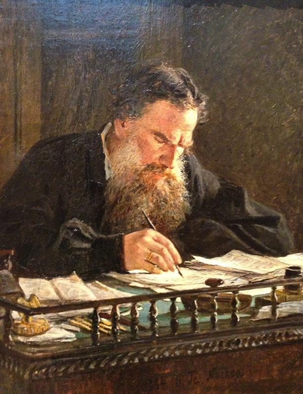 Nikolai Nikolaevich Ge. A portrait of the writer Leo Tolstoy