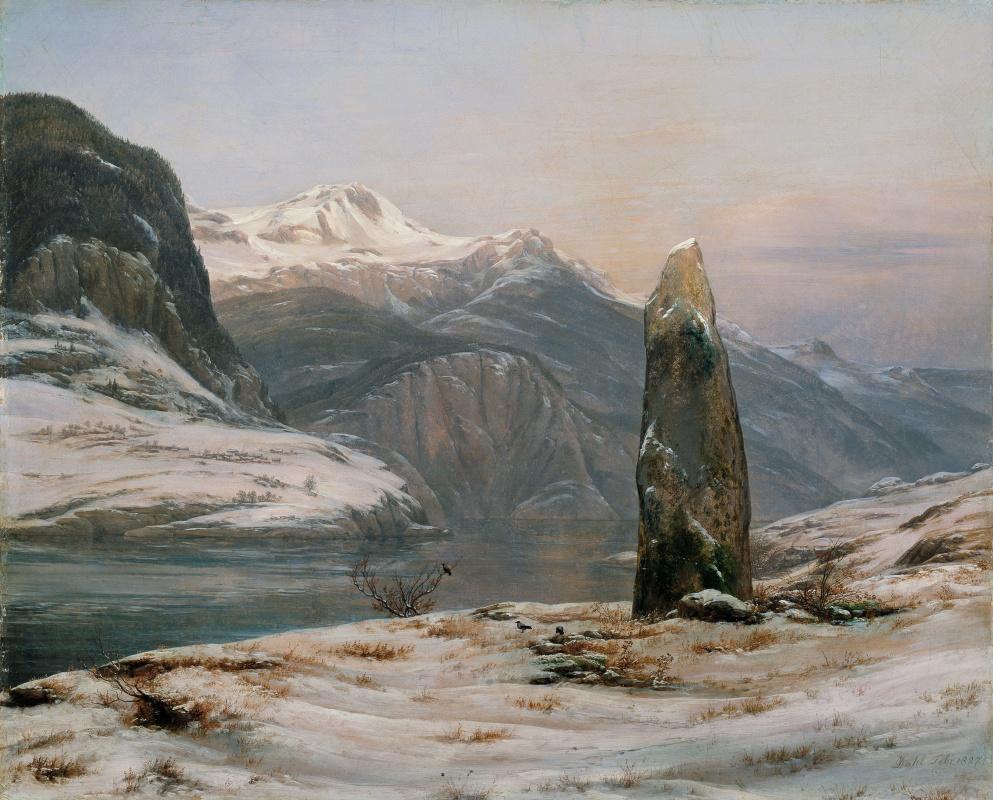 Johan Christian Klausen Dahl. Зима в Согнефьорде
