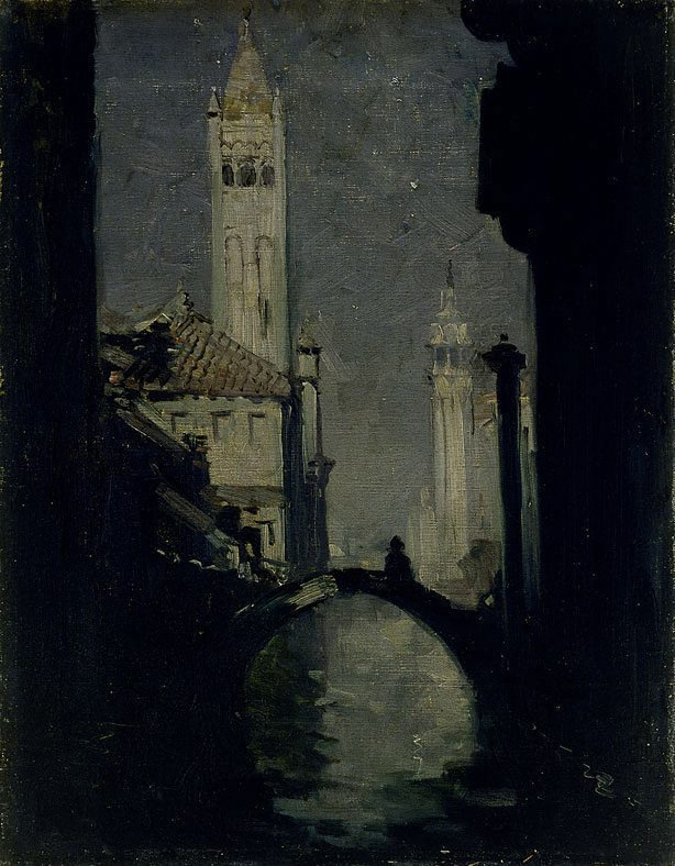 Arthur Ernest Streaton. Venice in the moonlight