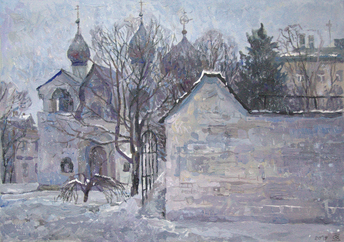 Oleg Borisovich Zakharov. The first day of spring 2019. (Marfo-Mariinsky Convent. Intercession Church.)