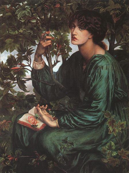 Данте Габриэль Россетти. Девушка с цветком