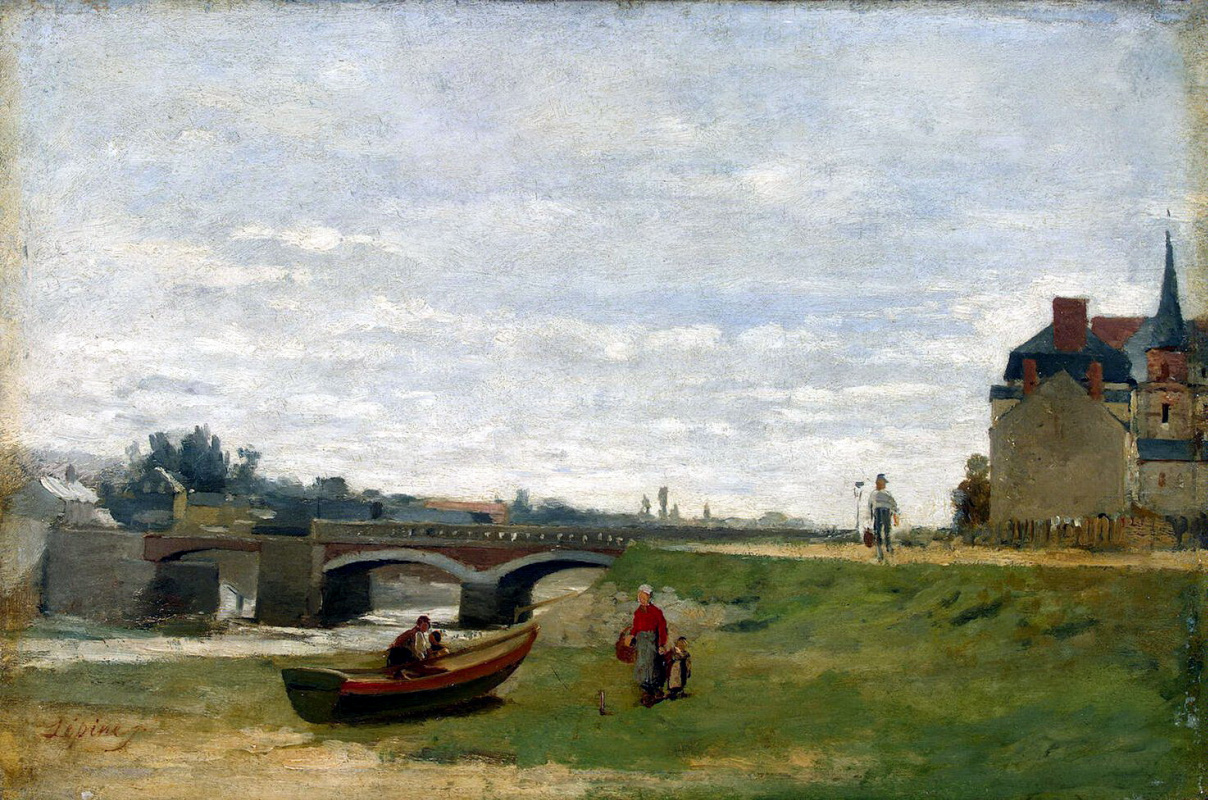 Станислас Лепин. Пейзаж с мостом