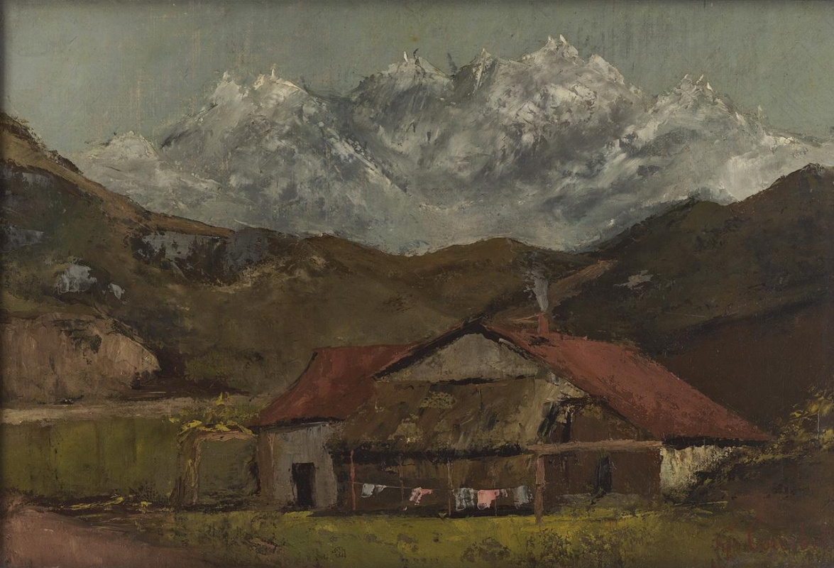 Gustave Courbet. A Hut in The Mountains