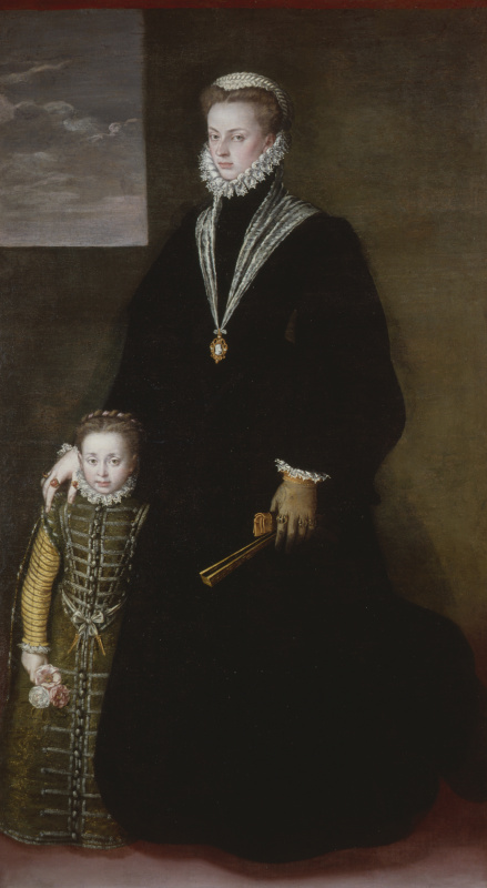 Sofonisba Anguissola. Portrait of Juana of Austria with a pupil