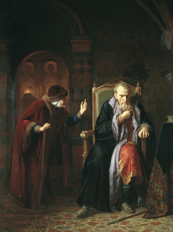 Karl Bogdanovich Wenig. Ivan the Terrible and his mother