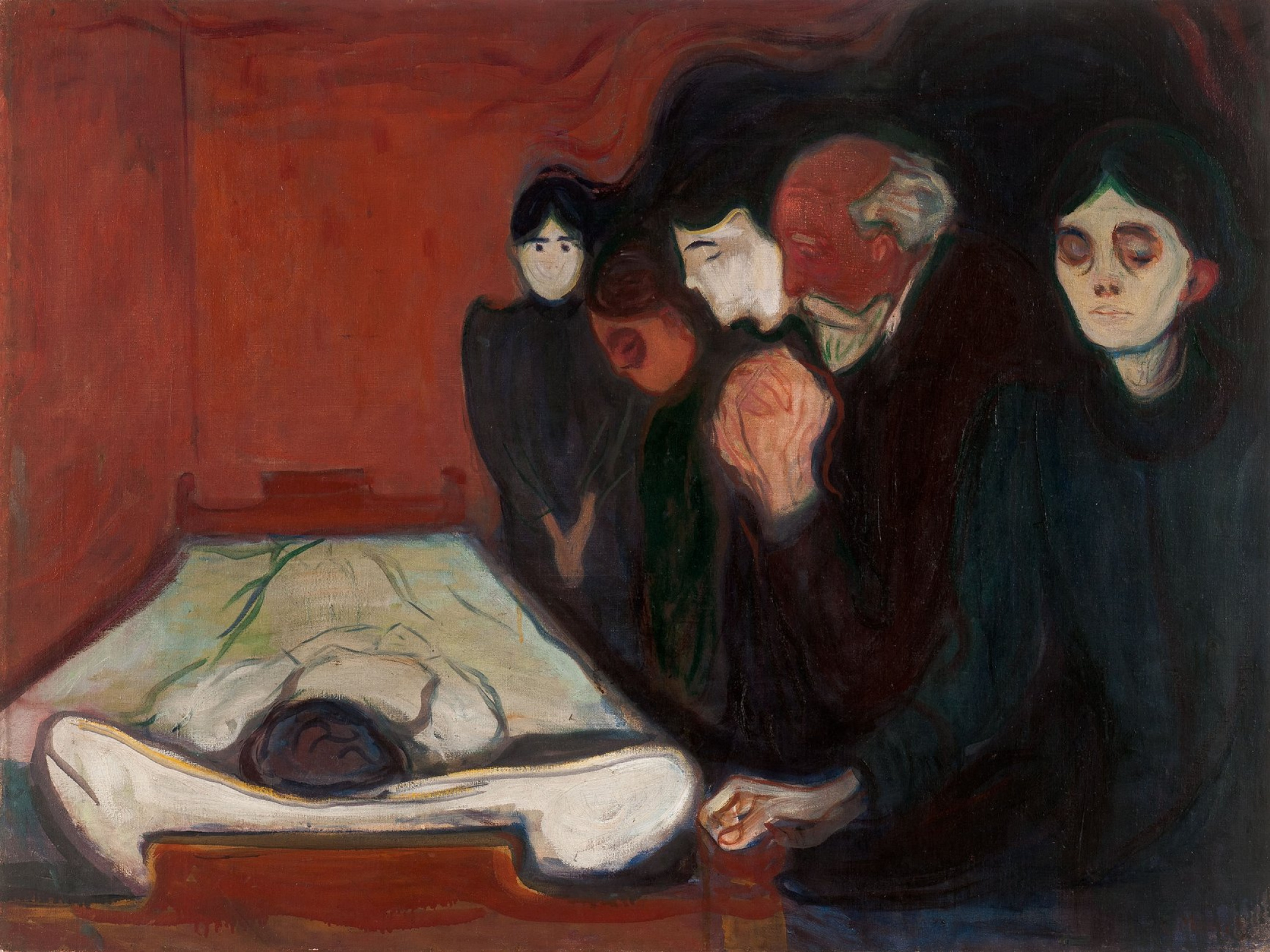 Edvard Munch. At the deathbed