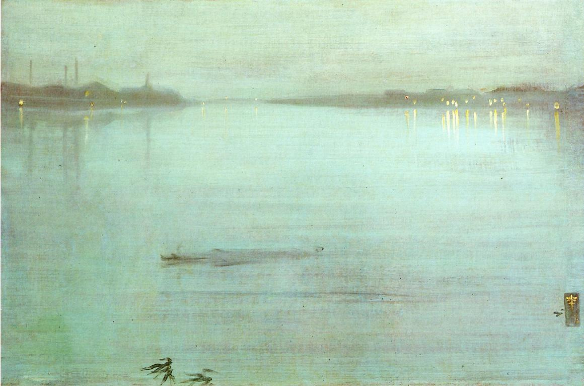 James Abbot McNeill Whistler. Nocturne: Blue and silver - cremorne Lights