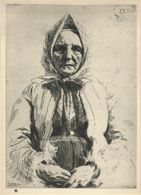Андерс Цорн. Пожилая женщина