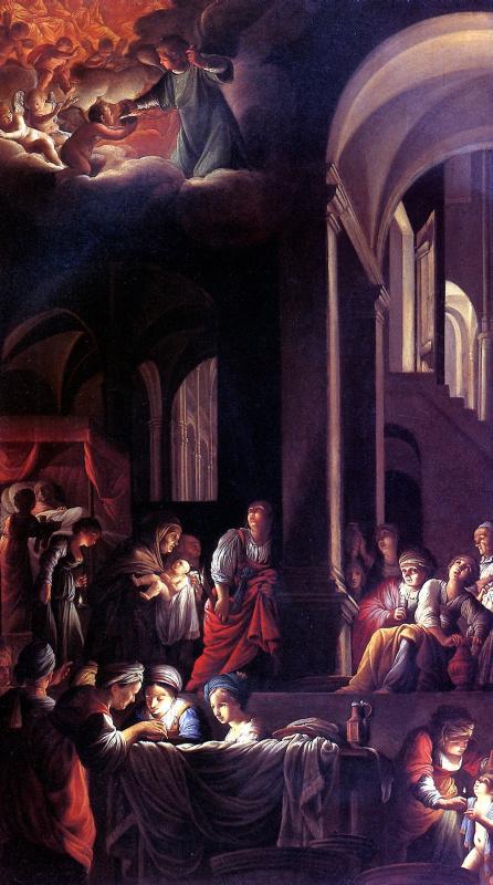 Carlo Saraceni. The Nativity Of The Theotokos