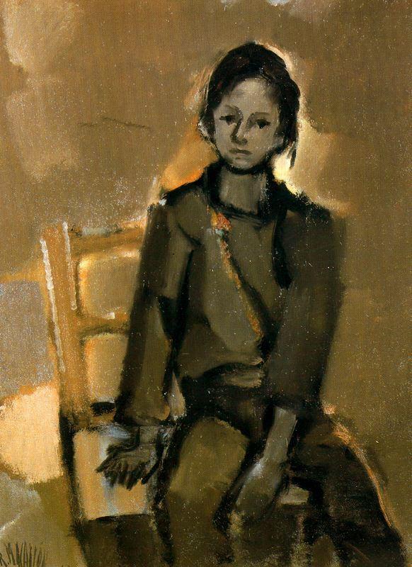 Рикардо Макаррон. Девушка на стуле