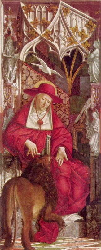 Михаэль Пахер. Алтарь отцов церкви, внутренняя сторона левой створки. св. Иероним