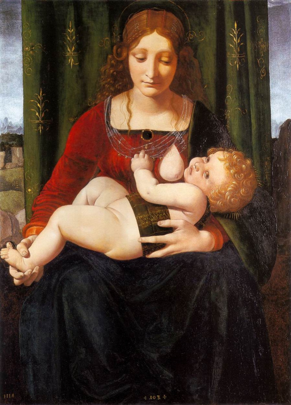 Giovanni Antonio Boltraffio. The Madonna and child
