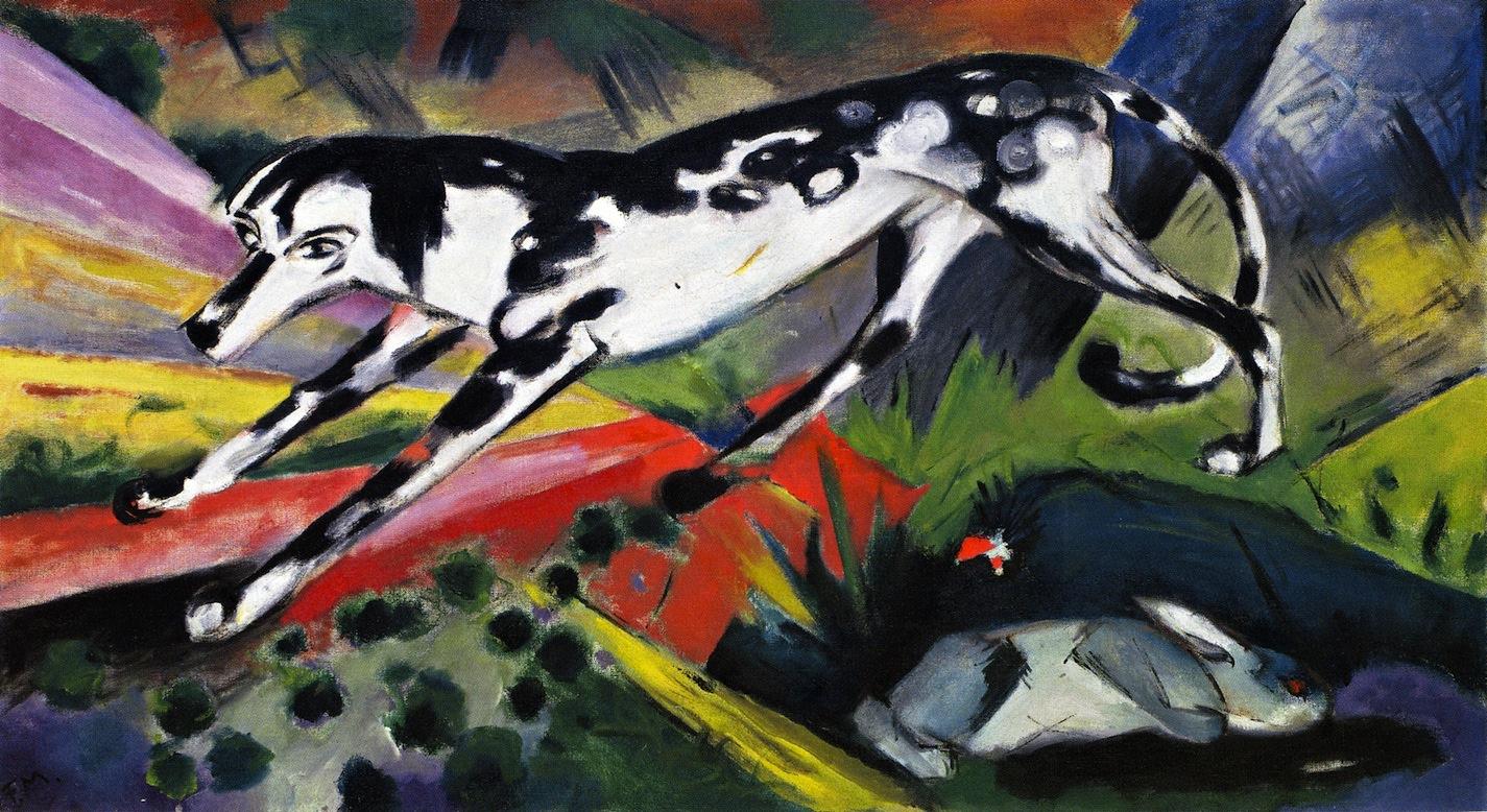 Franz Mark. Dog and hare