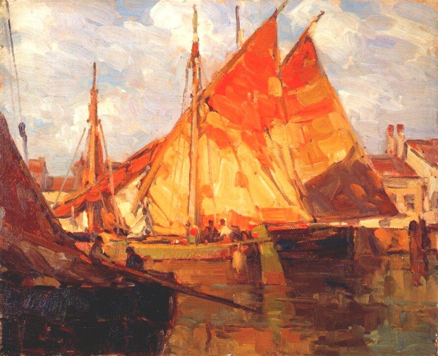 Эдгар Пейн. Лодки сардины