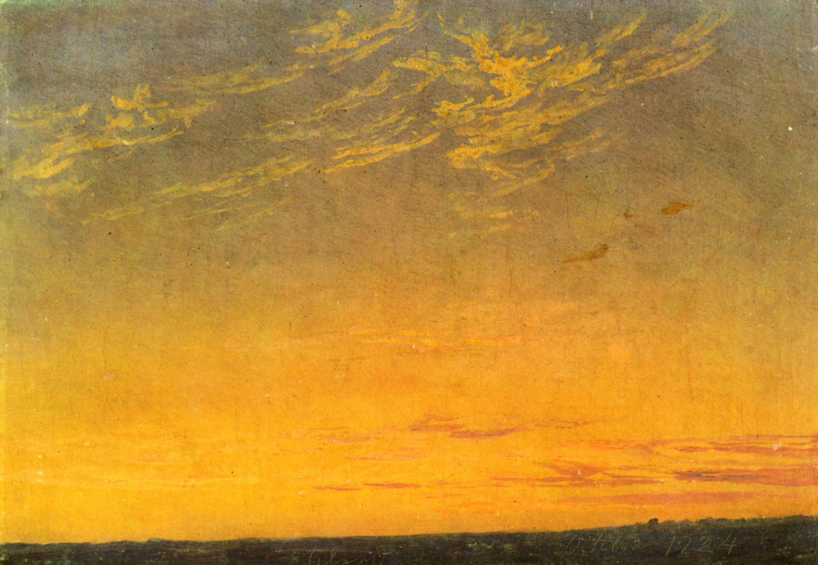 Caspar David Friedrich. Evening