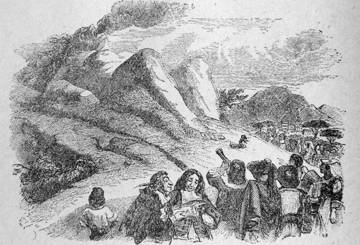 Жан Иньяс Изидор (Жерар) Гранвиль. Гора, родившая мышь. Иллюстрации к басням Жана де Лафонтена