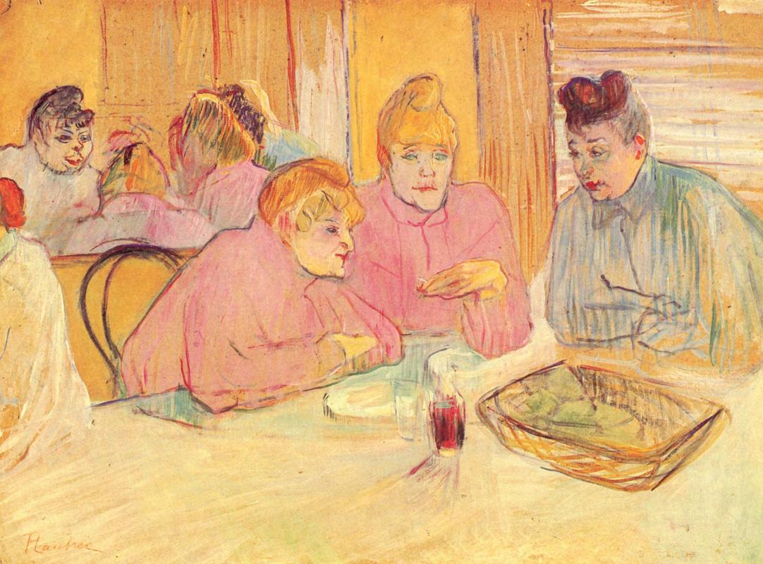 Henri de Toulouse-Lautrec. Im Speisesaal des Bordells