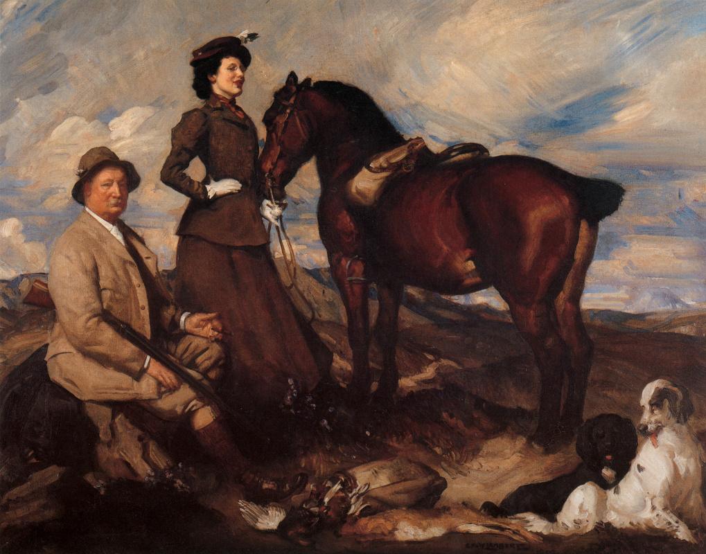 George Lambert. Miss Alison Preston and John Proctor