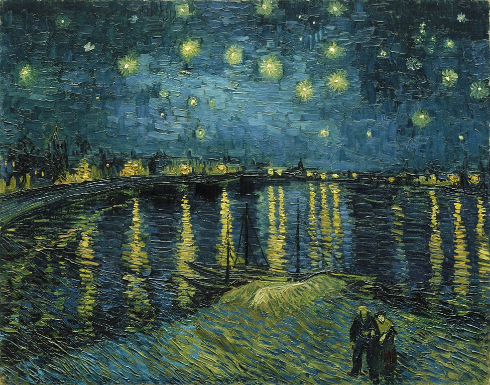 Vincent van Gogh. The Starry Night Over the Rhône