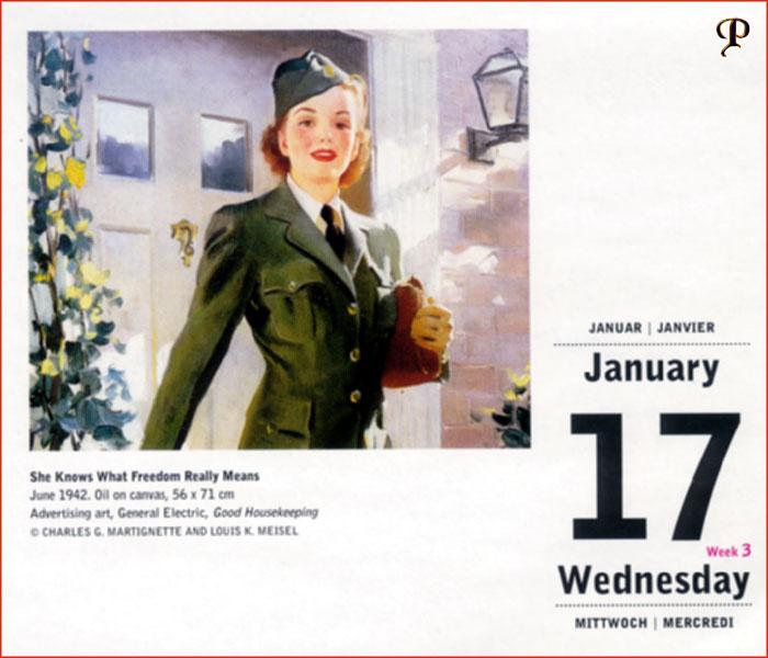 Jill Elvgren. Calendar 17
