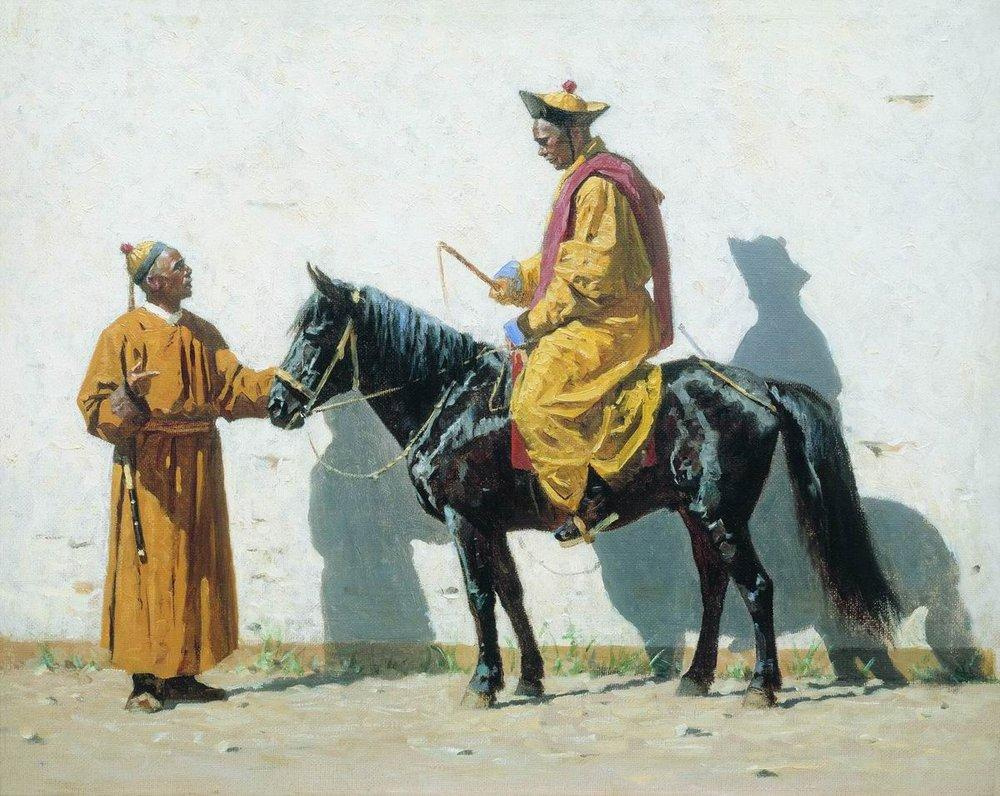 Василий Васильевич Верещагин. Калмыцкий лама