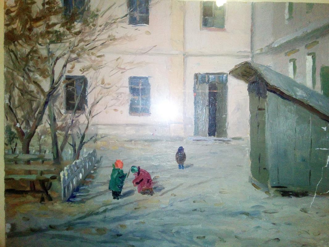 Boris Nikolaevich Loshkarev. Courtyard