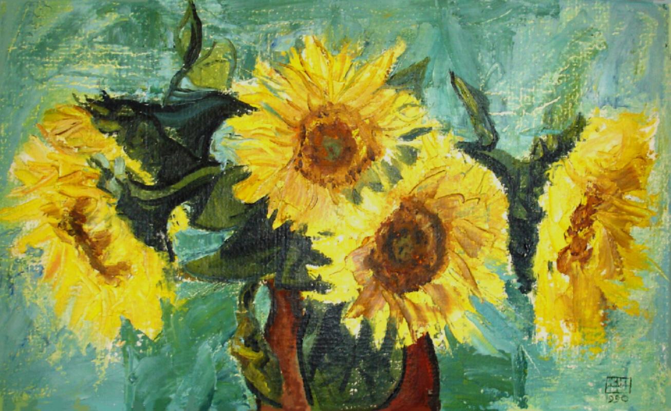 Yuri Petrovich Konnov. Sunflowers
