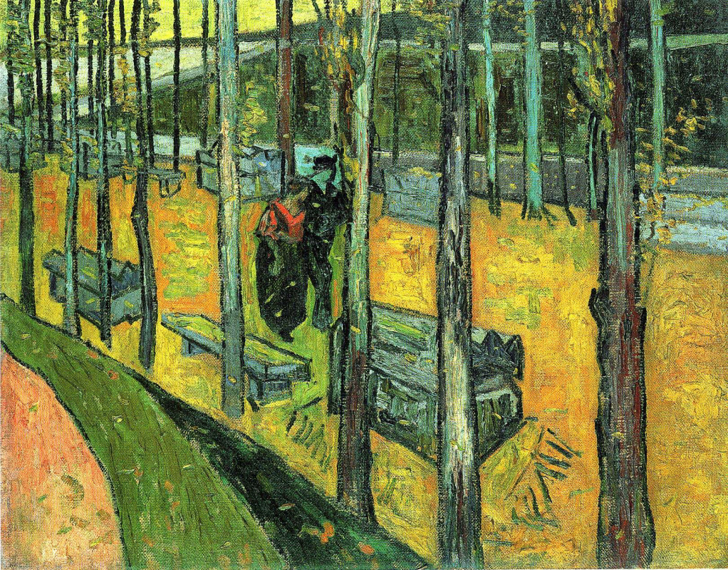 Vincent van Gogh. Alaskan. Alley with benches (version)