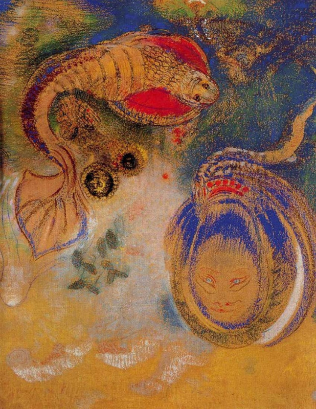 Odilon Redon. Animals on the bottom of the sea