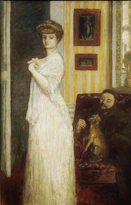 Pierre Bonnard. Portrait of Mysia with husband Tade Natanson