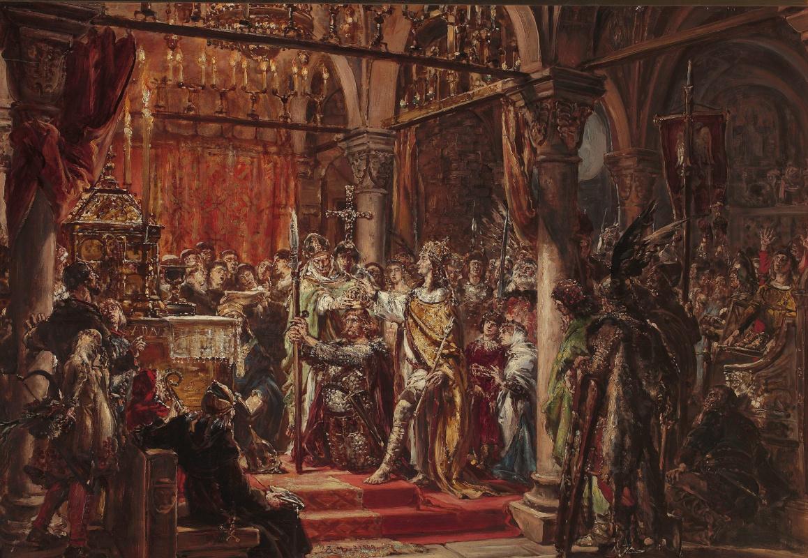 Ян Матейко. История цивилизации в Польше. Коронация первого короля, 1001 год