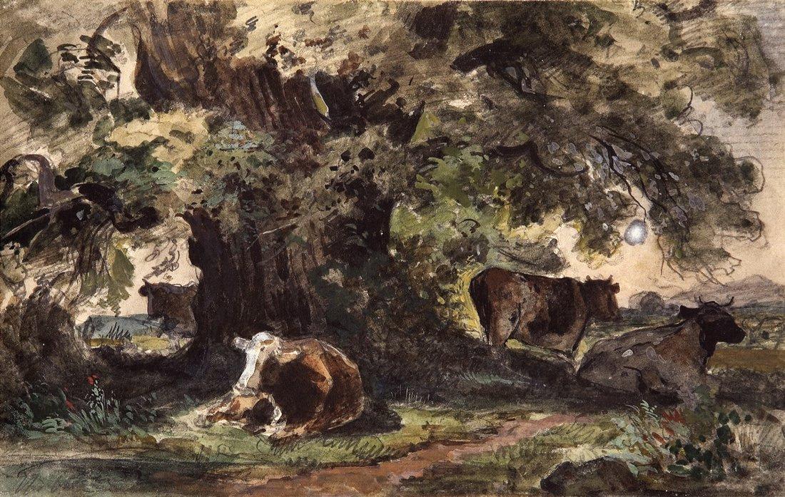 Иван Иванович Шишкин. Стадо коров на отдыхе