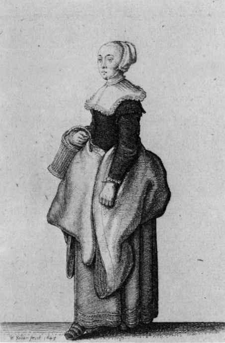 Венцель Холлар. Дочь кельнского горожанина