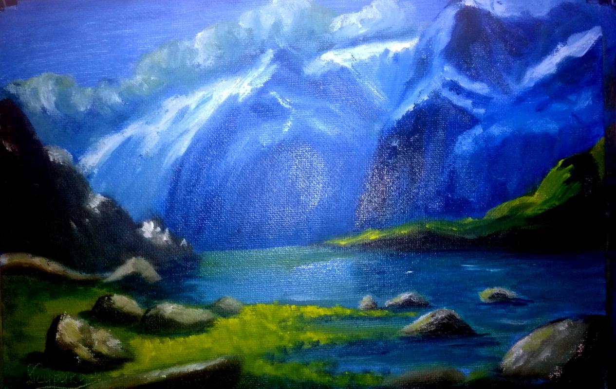 Andrey Kurakin. Mountain landscape