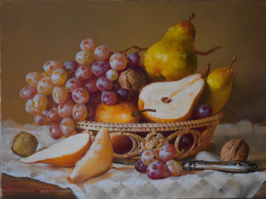 Andrey Bashirov. Fruit in a basket