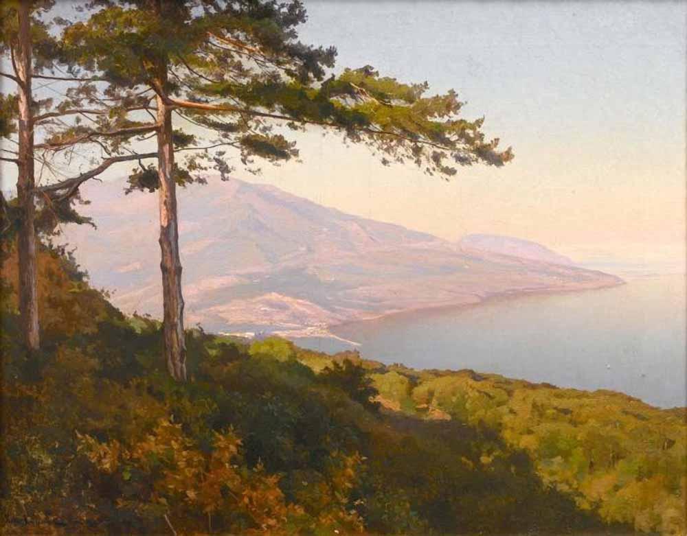 Joseph Evstafievich Krachkovsky. View on Yalta